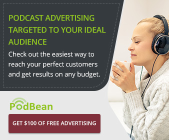 $100 in free podcast advertising