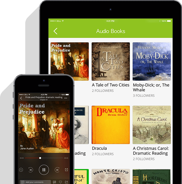 Get audiobooks on your phone, Always FREE